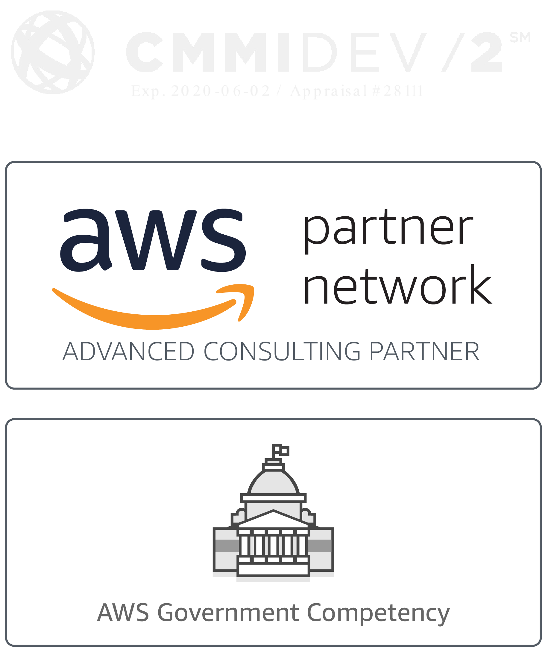 CMMI 2 AWS Partner Network AWS Government Competancy